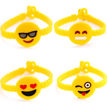 Buy 12pcs/lot Trend Yellow Rubber Mixed Styles Emoji Bracelets Women Men Popular Human Face EMOJI Pattern Bangles Wholesale for $3.27 in AliExpress store