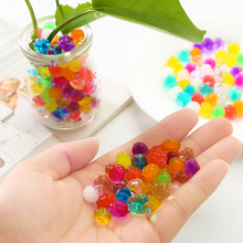 200PCS/pack Mini Round Crystal Soil Water Beads Magic Jelly Balls Bullet Balls For Water Gun Toys water paintball gun bullet