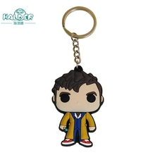 Doctor Who Key Chains Steven Strange David Tennant Matthew Robert Smith Peter Capaldi Characters Keychain Movie Keyring Trinkets(China)