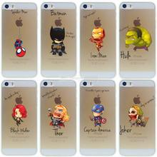 For iPhone 5s 5 Case Cool Marvel's The Avengers Heros Cover For iPhone 5 5S SE Coque Fundas