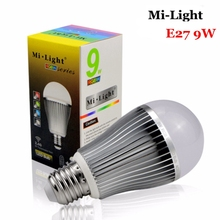 AC85-265V Dimmable Mi Light E27 9W RGBW RGBCW Led Bulb Lamp RGBWW Spot light Smart  Colourful lampada MiLight Wireless Lights