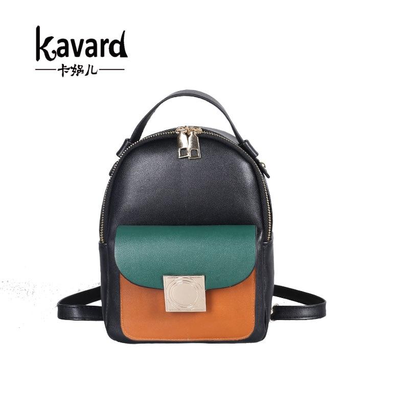 Kavard brand MINI backpack for girl back bagpack  PU leather Small pretty women shoulder bag feminine backpack bolsas femininas <br><br>Aliexpress