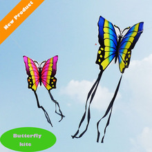 Butterfly Rainbow Kite Without Flying Tools Outdoor Fun Sports Kite Factory Children Triangle Color Kite Easy Fly(China)