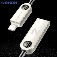 Original NOHON Metal 8 Pin USB Cable For Apple iPhone 7 6 Plus 5 5S 5C iPad Air iPod Nano Phone Cable Fast Charging Data Sync(China)