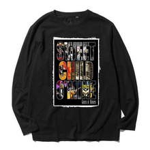 guns n roses sweet child no mine patchwork design rock band tee Heavy combed Full Long Sleeve t shirt(China)