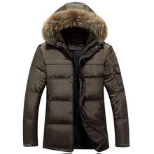 2016 Fashion Men Down Coat With Hood Coat Men Winter Jacket Men's Male White Duck Down Jacket Coat Down-Jacket Coats Plus Size
