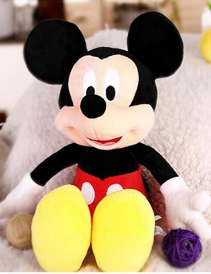 30cm Baby Toy Mickey Mouse And Minnie Stuffed Soft Animal Doll One Piece Girls 2017 Plush Toys Kids Birthday Gift pelucia MTY012(China (Mainland))