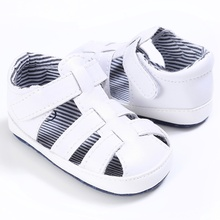 Fashion 0-18M Summer PU Baby Boys Breathable Hollow Out Anti-slip Flip Flop Newborn Cack Sandal