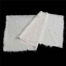 "Excellent Soft White Shaggy Fur Fabric Long Pile Fur Costumes Photographic Backdrops 36""x60"" for Home Handmade Cloth Material"