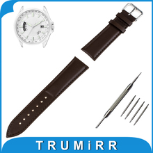 Genuine Leather Watch Band 16mm 18mm 20mm 22mm 24mm + Tool + Pins for Citizen Watchband Strap Wrist Belt Bracelet Brown Black
