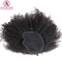 Kinky Curly Ponytail For Black Women Natural Afro Curly Non Remy Hair 1 Piece Clip In Ponytails 100% Human Hair Rosa Queen