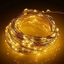 Tronzo 2M Led Copper Wire String Lights DIY Christmas Tree Toppers Decoration Outdoor Warm White Home Party Supplies