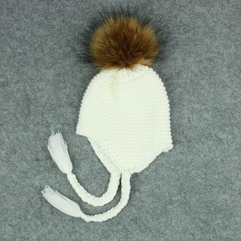 75124b2f7901 Cute Toddler Kids Girl Boy Baby Infant Winter Warm Crochet Knit Hat Beanie  Cap Black Pink White Green