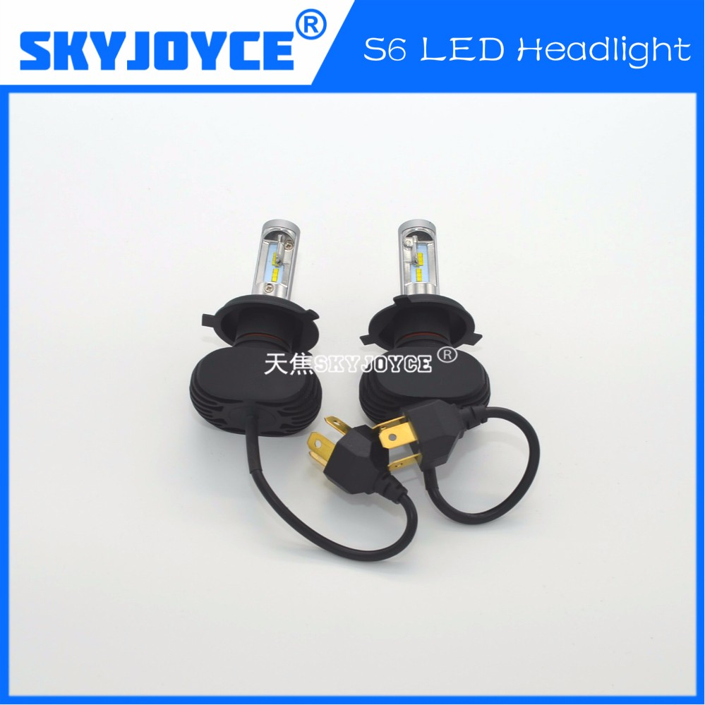 10 sets 2016 NEW S6 car H4 ETI high low beam 12-24V Car Headlight all in one LED conversion Kits led auto headlight motor light<br>