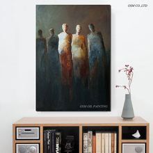 Artist Hand Painted Abstract Portrait Oil Painting On Canvas Modern Abstract Portrait Oil Painting For Living Room Decoration(China)