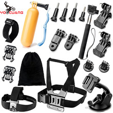 YOOCUANG For Floating grip Accessories kit for Gopro hero 5 Chest Head Wrist Mount Strap For Gopro SJCAM Action Camera Y10