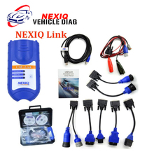 NEXIQ 125032 USB Link with plastic case and Software Diesel Truck Diagnostic TOOL NEXIQ USB Link with All Adapters Free Shipping(China)