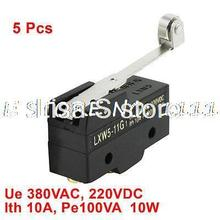 5 Pcs LXW5-11G1 NO NC Short Roller Hinge Lever AC DC Micro Limit Switch