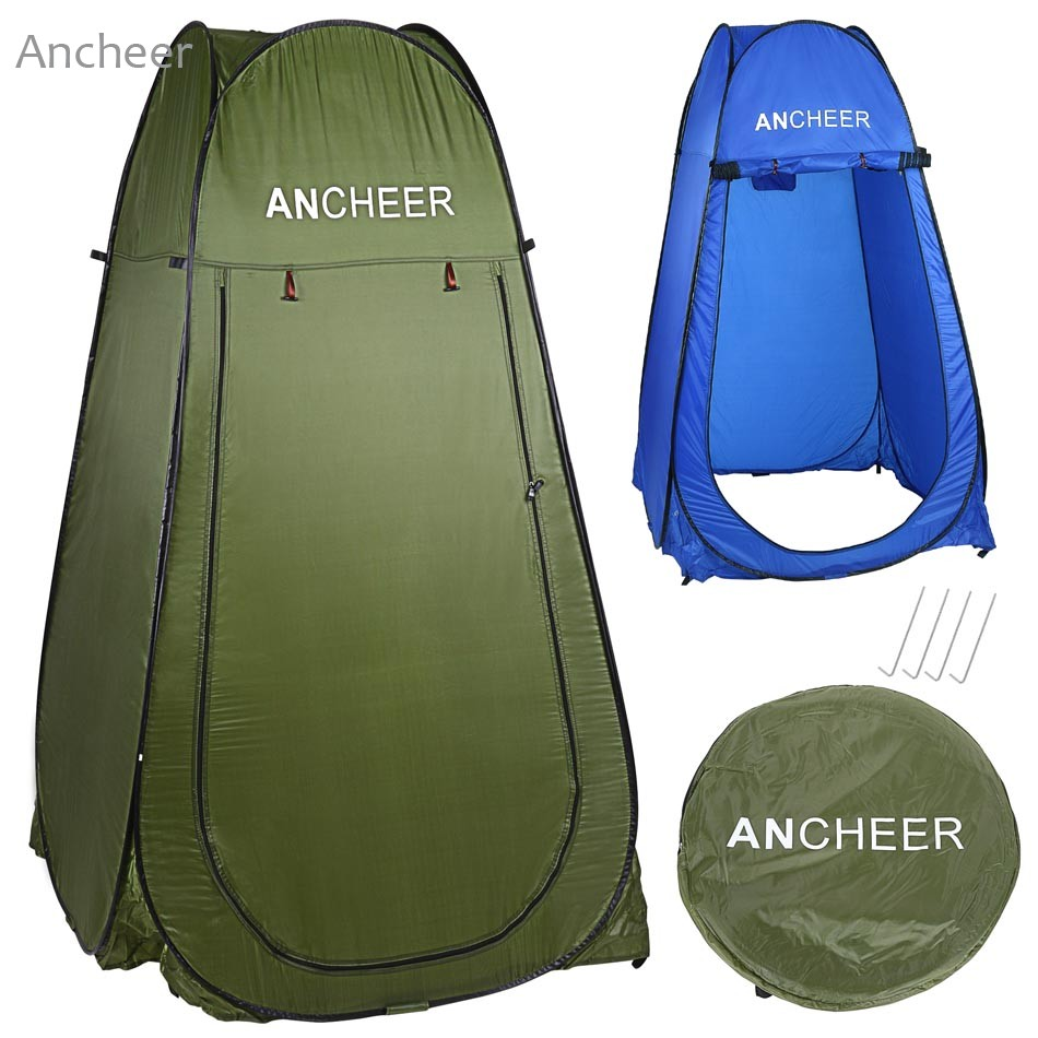 Ancheer Portable Outdoors Toilet Shower Changing Room Tents For Camping Pop Up Camping Traveling Tent With Bag <br>