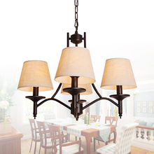 Simple IKEA modern electroplating Iron Chandelier chandelier Iron Chandelier chandelier American living room atmosphere(China)