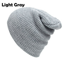 Cable Knitted Baggy Beanie Hats for Men and Women Winter Skull Caps Slouchy Striped Skullies Brown Beanies Black Gray Dark Red