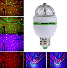 E27 RGB LED Lamp 3W Colorful Magic Bulbs AC 85-265V 110V 220V Auto Rotating Stage Light DJ Disco Club Party PUB LED Bulb