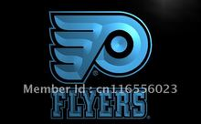 LD097- Flyers Hockey LED Neon Light Sign home decor shop crafts(China)