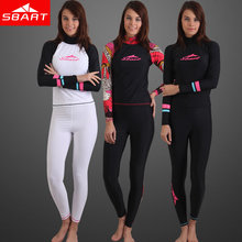 SBART  Swimwear female spandex Rash Wetsuit compression tights wears quick dry body suit Surf Rash Guard women