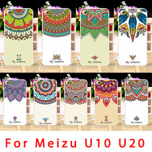 Soft Phone Cases Meizu Meilan U10 U680H U20 Case Cool Smartphone Half Flowers Back Covers Housing Sheath - 3C Accessories Shops Store store