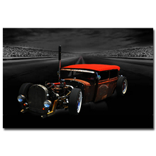NICOLESHENTING Hot Rod Muscle Car Art Silk Fabric Poster Print Classic Car Pictures For Living Room Decor 030
