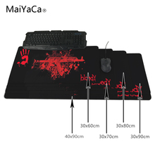MaiYaCa Keyboard Mouse pad Bloody Large table mat laptop computer keyboard Rug Rubber Mat XL 900X300 M M Stitched Edge 30x80cm