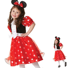 Free Shipping Carton Movie Minnie Miki Mouse Clothing Fantasia Kids Christmas Holloween Cosplay Games Costume Plus Size S-XL