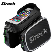 Sireck Bicycle Bag 3 Style Waterproof MTB Bike Bag 5.8'' 6.2'' Touchscreen Cycling Front Tube Bag Phone Case Bike Accessories(China)