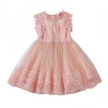 New 2018 Summer Girl Dresses Kids Chiffon Princess Dress For Girls Cute Petal Tulle Clothes Children Baby Birthday Party Dress(China)