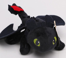 9'' 23CM American Movie How to Train Your Dragon Toothless Night Fury Plush Doll Soft Stuffed Toy Christmas Gifts