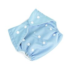 Infant Baby Baby Girls Waterproof Diaper Pant Washable Reusable Breathable Cover Soft Cloth Diaper(China)