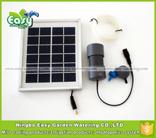 (10pcs -pack)2W Solar Energy air pump 2L/MIN for hydroponics system. Aluminum alloy frame,Free shipping