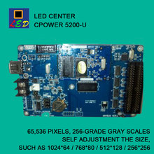 LED CENTER CPOWER 5200 USB PORT SEND DATA CONTROL CARD LED SIGNS BOARD lumen single Monochrome double color controller(China)