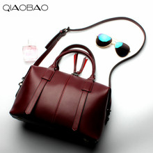 QIAOBAO 2017 New factory wholesale Cowhide Real Leather handbags fashion casual shoulder Messenger Messenger ladies bag