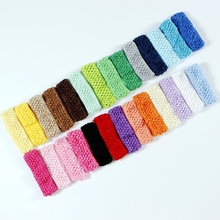 "27pcs/lot Free Shipping 1.5"" Baby Hair band Crochet Headbands Children Hair bands Kids Accessories 27 colors in stock D01(China)"