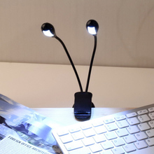 Flexible Clip on LED Table Desk Lamp Light 4 LEDs Book Reading Light Bedside Lamp for Bedroom Laptop PC Notebook Kindle