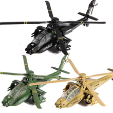 Alloy aircraft model Longbow apachean helicopter model toy aircraft model kid toys June 1 children's day New Year gift(China)