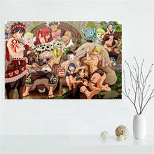 E#627L56 Custom fairy tail Anime Canvas Painting Wall Silk Poster cloth print DIY Fabric Poster free shipping Y43-q