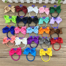 23colors in Stock 3inch Ribbon Hair Ribbon Bows Hairband for Children Hair Accessories Boutique Bows Hair Ties 23pcs/lot