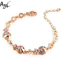 "Any1 7 Inch Colorful Fish-shaped Crystal Female Bracelet with Swarovski Crystal ""Clownfish""(China)"