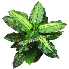 25 Leaves Large 55 CM Latex  Fabric Wedding Home Church Furniture Decor Artificial Evergreen Plant Tree Green