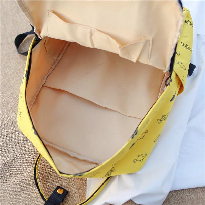 Menghuo Fish Printing Women School Bag Backpack for Teenage Girls Backpacks Female Canvas Children Schoolbag Women Bag s (24)