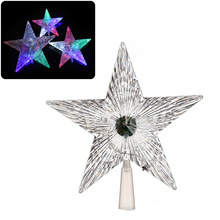 LED Christmas Tree Star Shiny Xmas Decor Transparent Luminous Treetop Stars Christmas Party Festival Ornament CLH@8