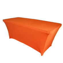 Orange Rectangle Table Cover/Lycra Tablecloth/Chair Sash/Chair Cover For Wedding Party Hotel Banquet Home Decorations