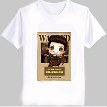 VXO Kpop Super Junior member cute cartoon image print T-Shirts men And women sj comic wanted for super junior harajuku t shirt